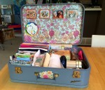 Altered Vintage Suitcase – Blue Lady Baltimore